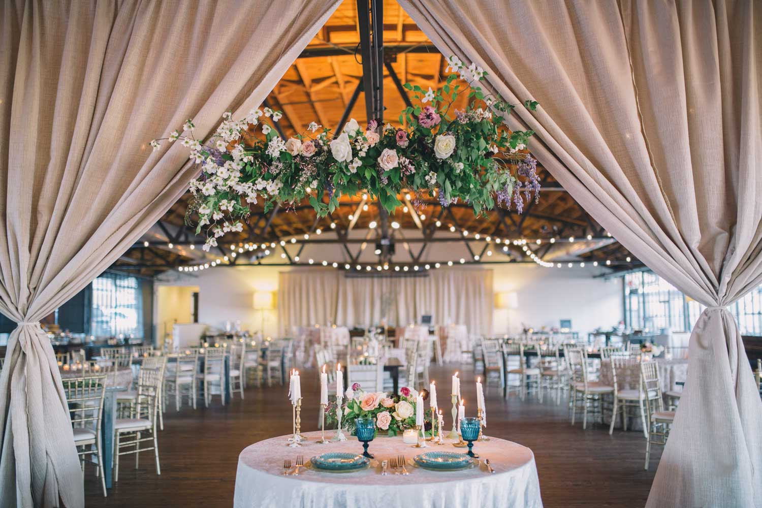 floral-hanging-piece-reception-venue