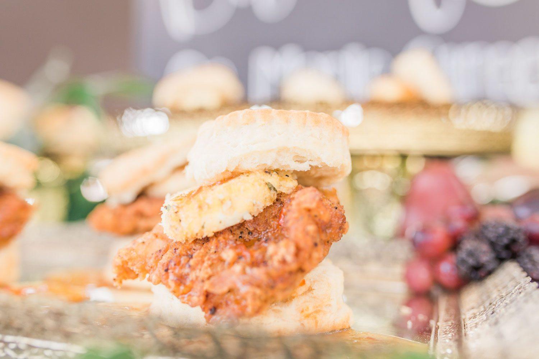 florida wedding biscuit bar outdoor wedding chicken and biscuit sandwich