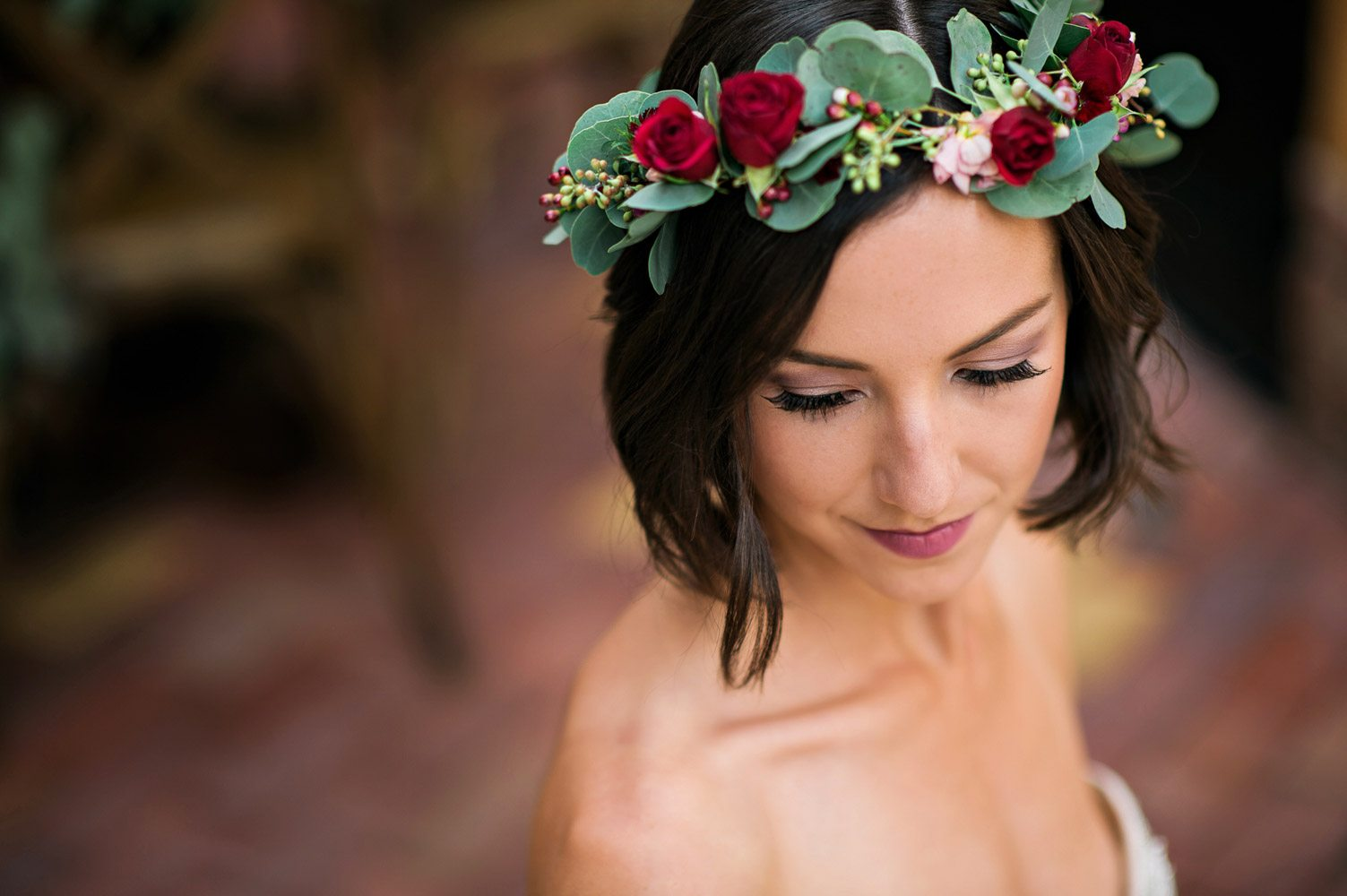 red rose bridal flower crown bridal hair