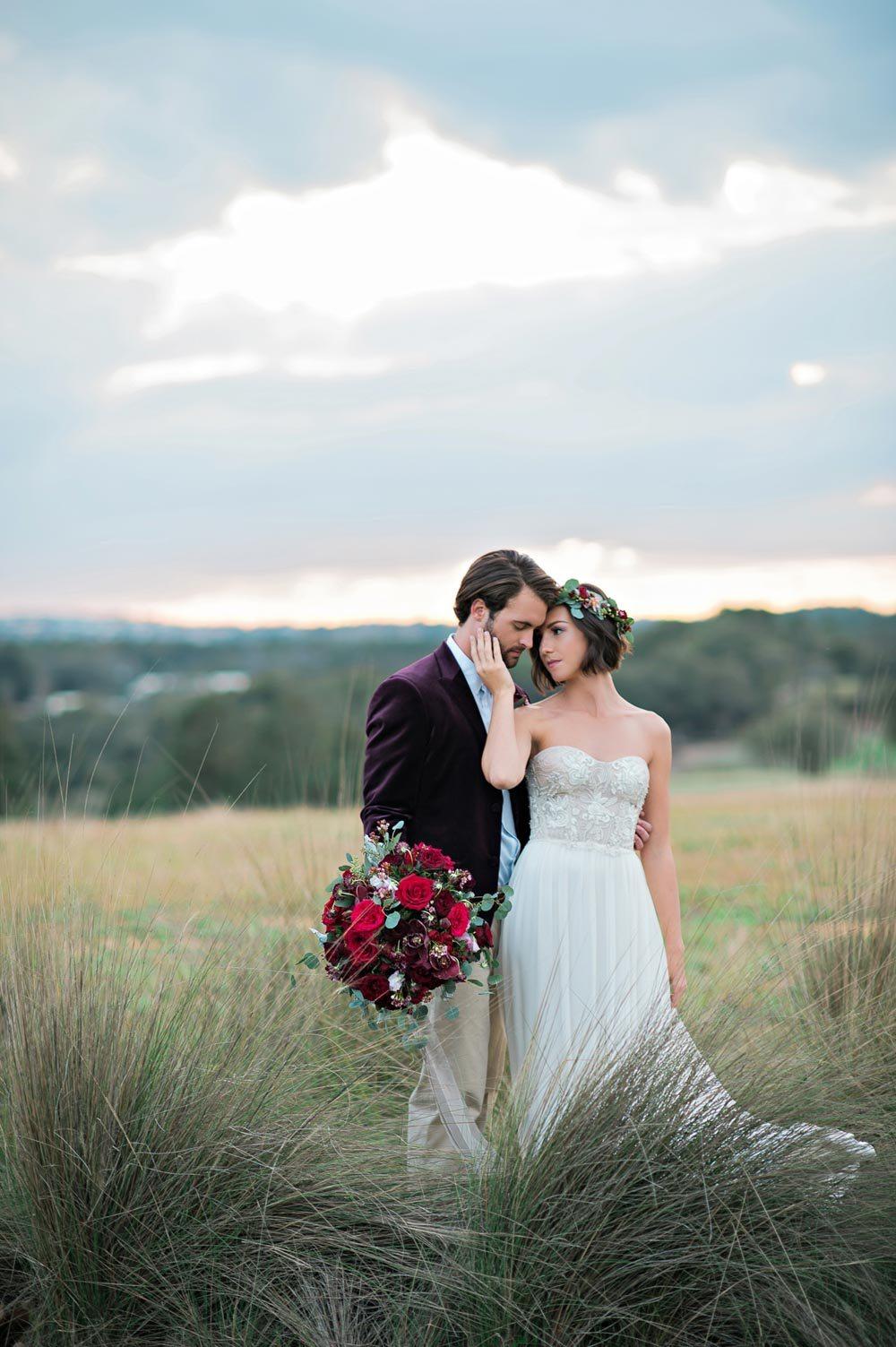 bride and groom italian maroon themed wedding inspiration