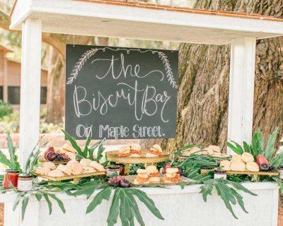 biscuit bar wedding food southern wedding