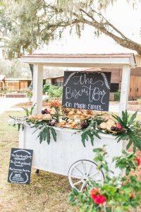 outdoor wedding reception biscuit bar