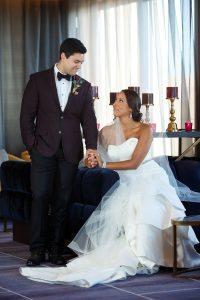 bold weddings bride and groom fashion