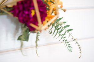 multicolored wedding floral decor
