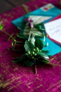 multicolored wedding invitation simple wedding flowers