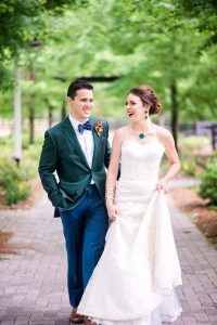 bold colors wedding green emerald bride groom boutonniere groom fashion bridal jewelry
