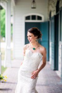 bride colorful wedding bridal jewelry lace wedding dress green gold purple