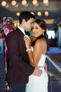 bride groom red pink purple gold bridal accessories