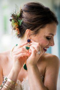 multicolored wedding bridal jewelry
