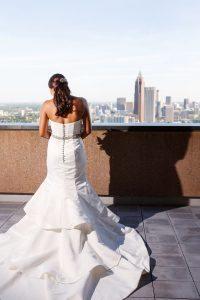 bride wedding dress bridal hair