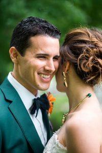 colorful wedding green tuxedo jacket bridal jewelry