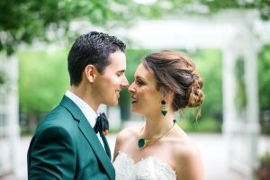 colorful wedding couple bridal jewelry colorful