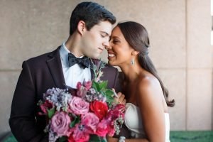 colorful wedding bride groom bouquet bridal accessories