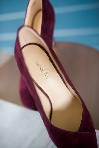 maroon bridal shoes heels suede