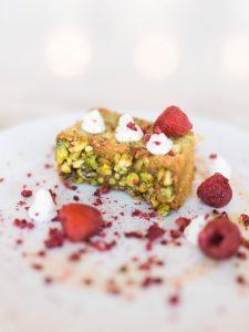 raspberry wedding dessert nuts