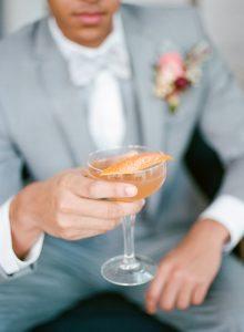 orange signature wedding cocktail orange peel garnish