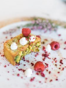 raspberry wedding dessert