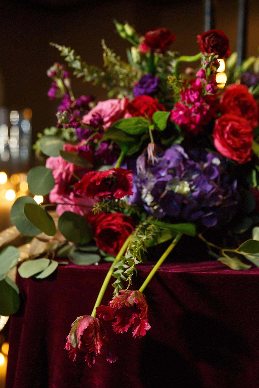 Flower Arrangements Red Purple Pinkkate Belle Photography Four Seasons Atlanta 103 The Celebration Society
