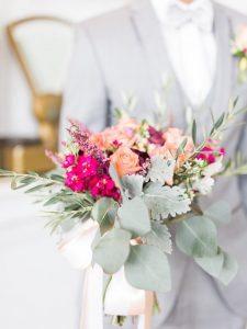 pink peach magenta bridal bouquet