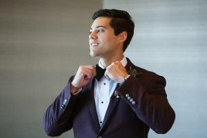 groom purple plum black tuxedo blazer
