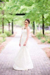 strapless lace wedding dress emerald purple gold silver bridal jewelry