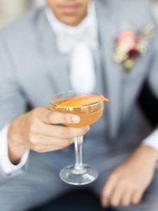 orange garnished cocktail
