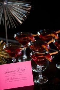 pink menu card specialty drink wedding bar wedding stationart