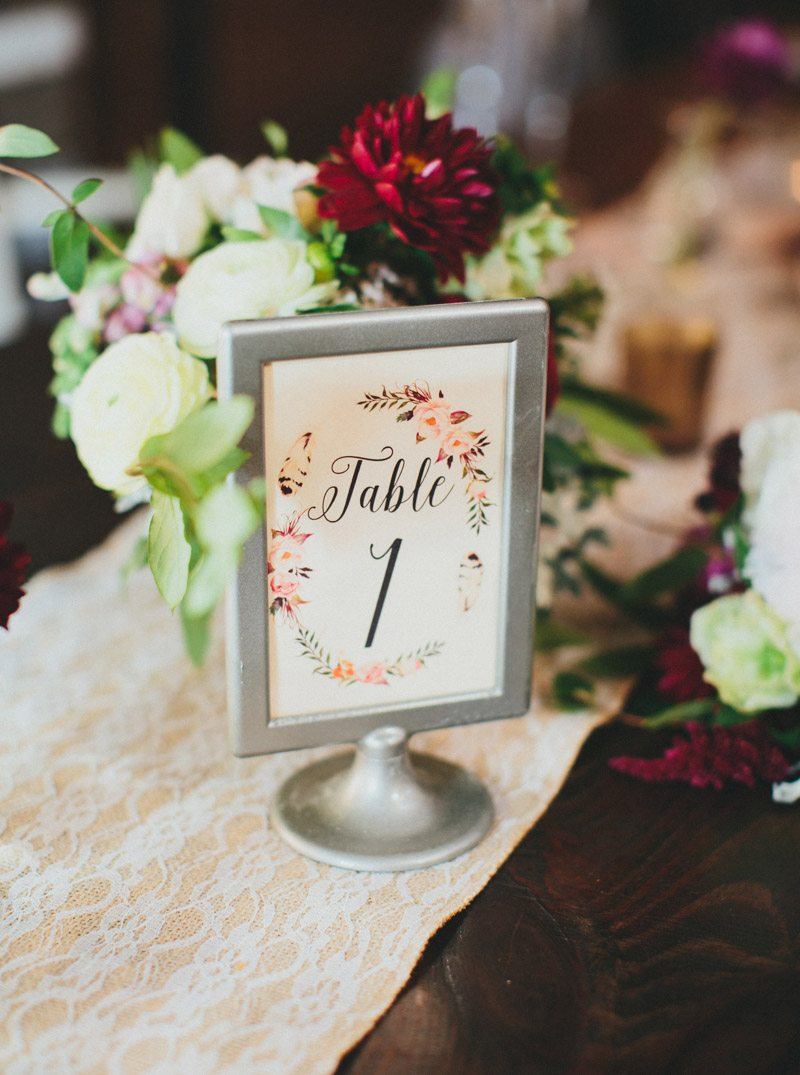 simple-pink-floral-table-numbers-for-reception