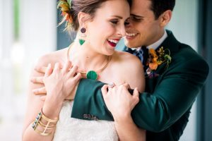 bridal accessories emerald green purple gold jewelry