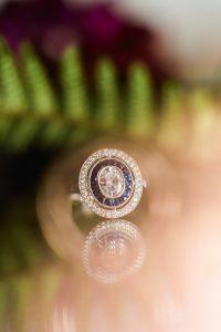 silver blue wedding ring