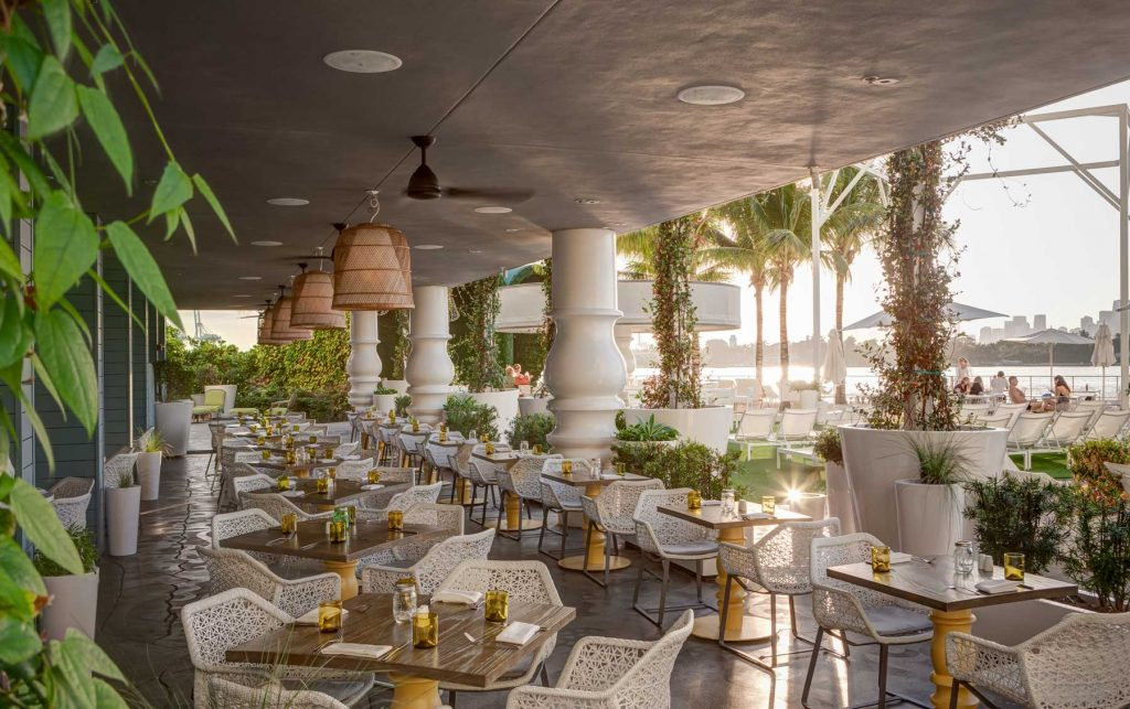 Mondrian south beach waterfront wedding venue miami for Zuma miami terrace