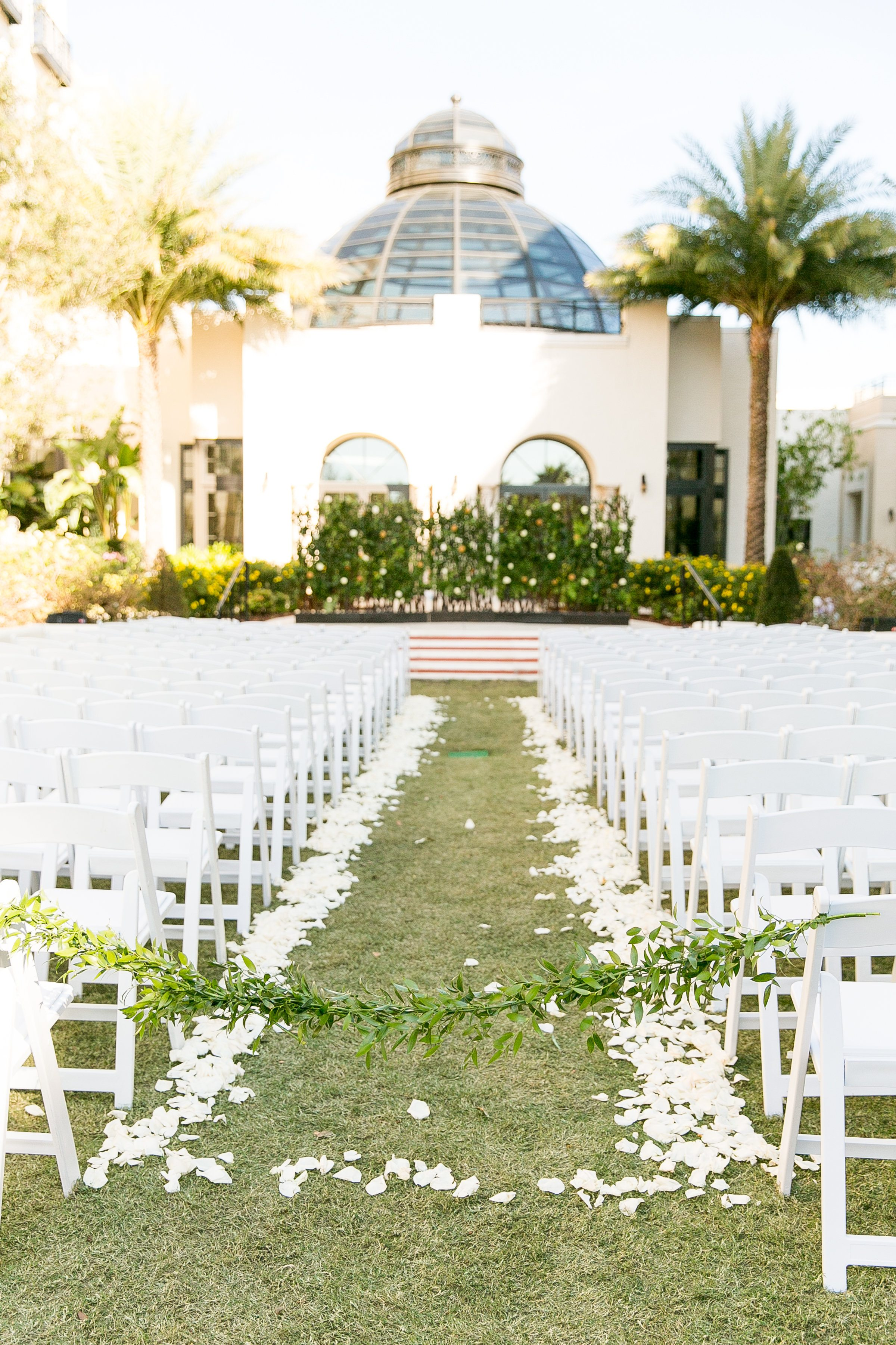 luxe greenery filled gold wedding at the alfond inn in winter park