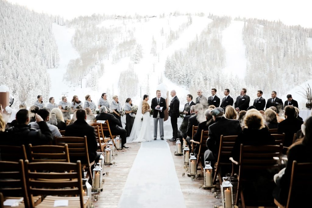 Elegant Antler Filled Mountain Wedding At Stein Eriksen Lodge In