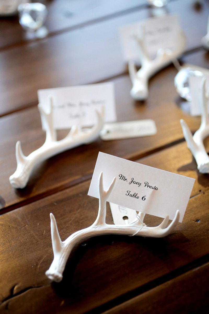 Mountain Antler Themed Wedding Ideas Logan Walker