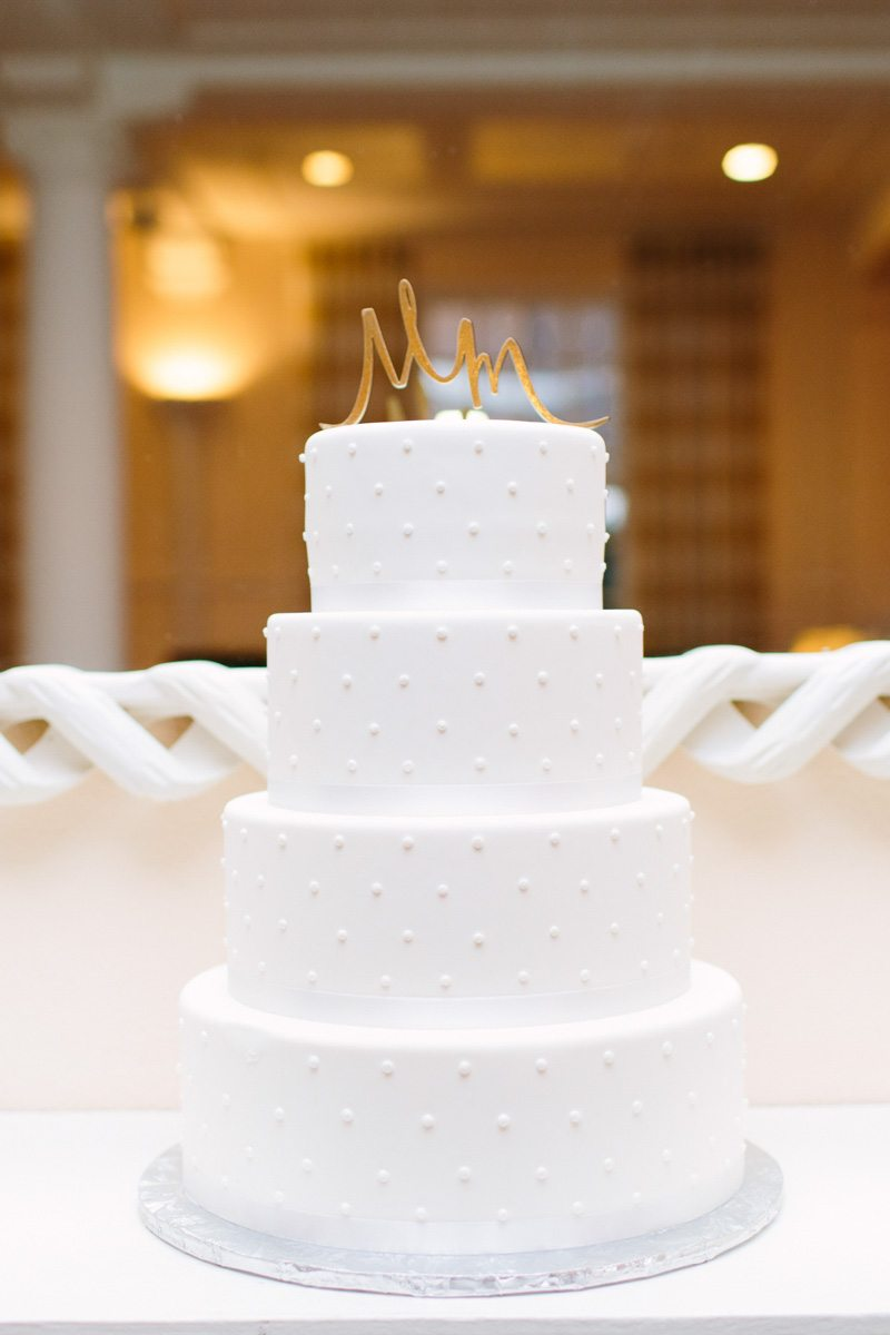 Simple White Wedding Cake Swiss Dots Mango Studios25 The