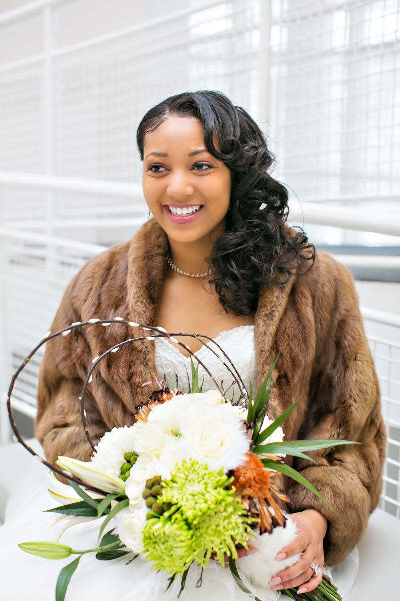 winter-wedding-bridal-attire-fur-jacket