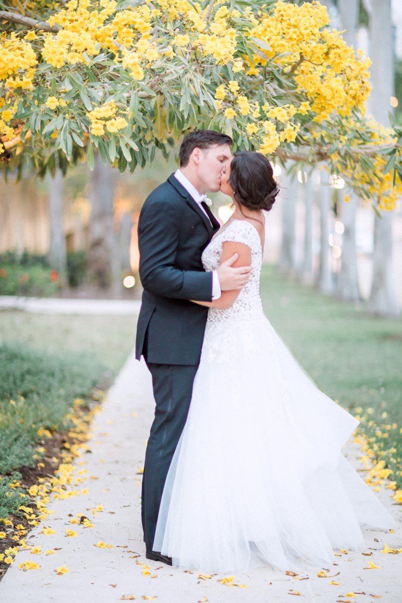 bride-and-groom-outdoor-yellow-flowers-hunter-ryan-109