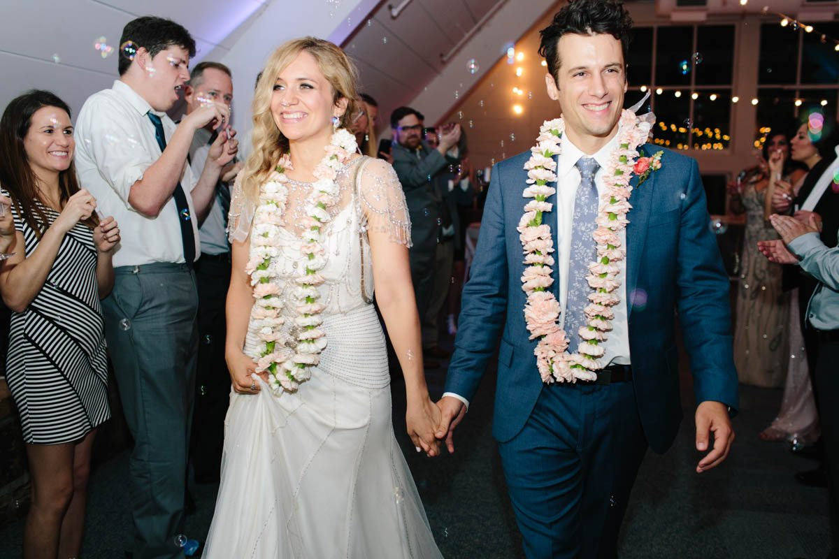 bride-groom-wedding-bubble-grand-exit