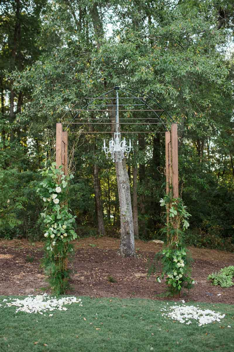 backyard wedding with sweet southern details at a private