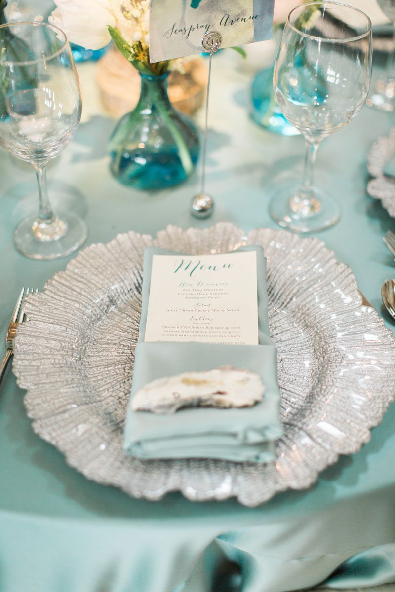 Turquoise Coastal-Inspired Wedding at Atlantic Beach Country Club in ...