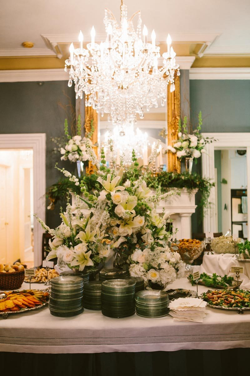 Buffet Style Wedding Reception Dinner Display Floral ...