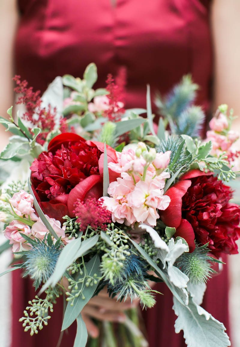 Lovely Red Winter Wedding at Whitefield Chapel in Savannah, GA - The ...