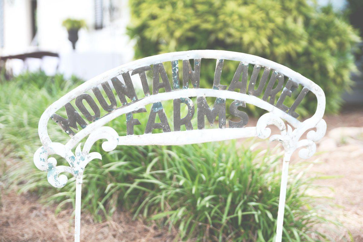 Outdoor Wedding Ceremony Mountain Laurel Farm Six Hearts: Farm Wedding Venue Signage_Mountain Laurel Farm_Six Hearts
