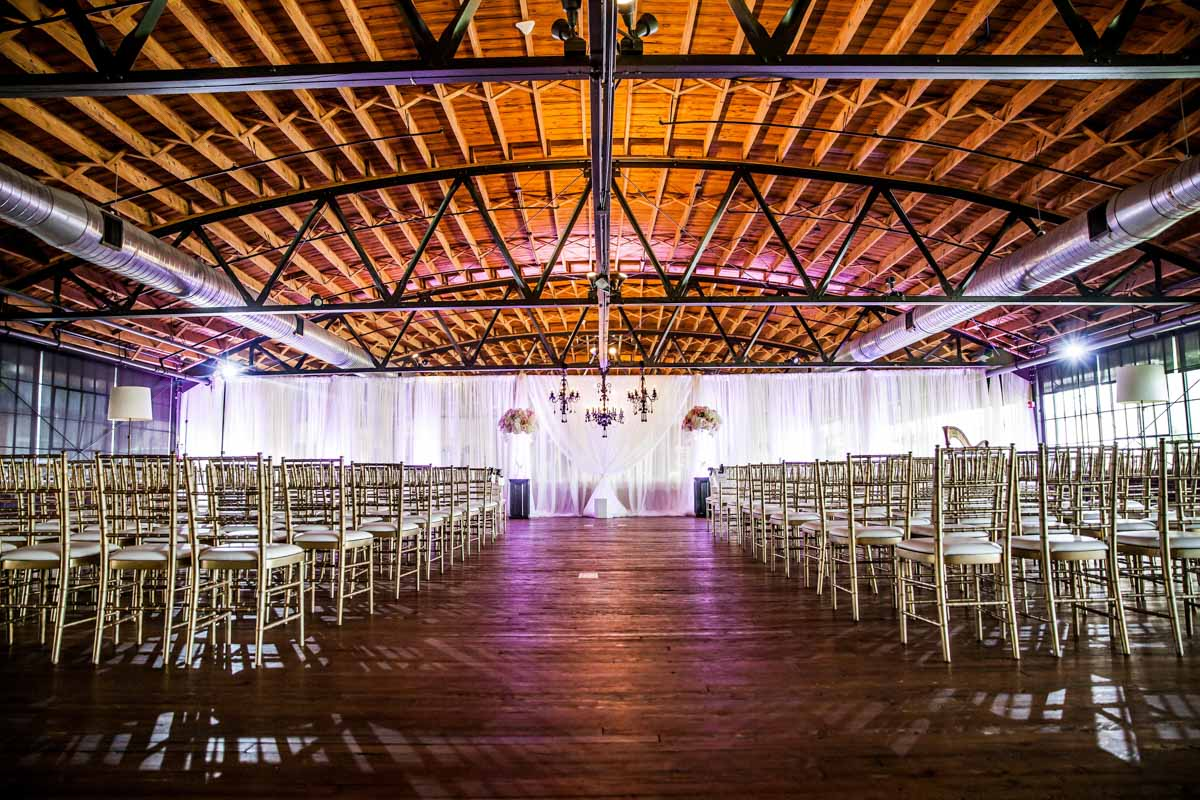 Glam Indoor Wedding Ceremony Setup_Summerour Studio