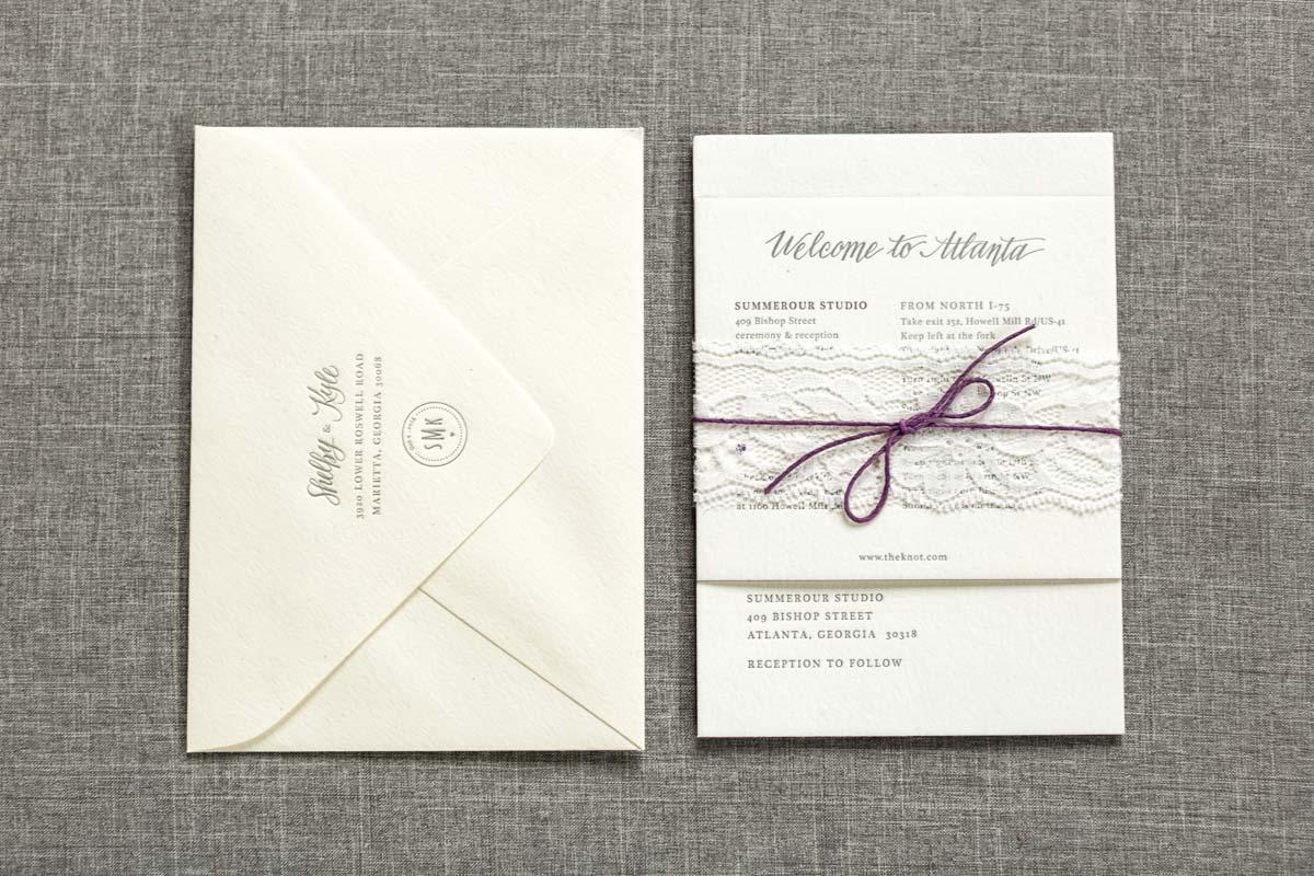Minimalist Wedding Invitation Suite_Summerour Studio_Rustic White ...