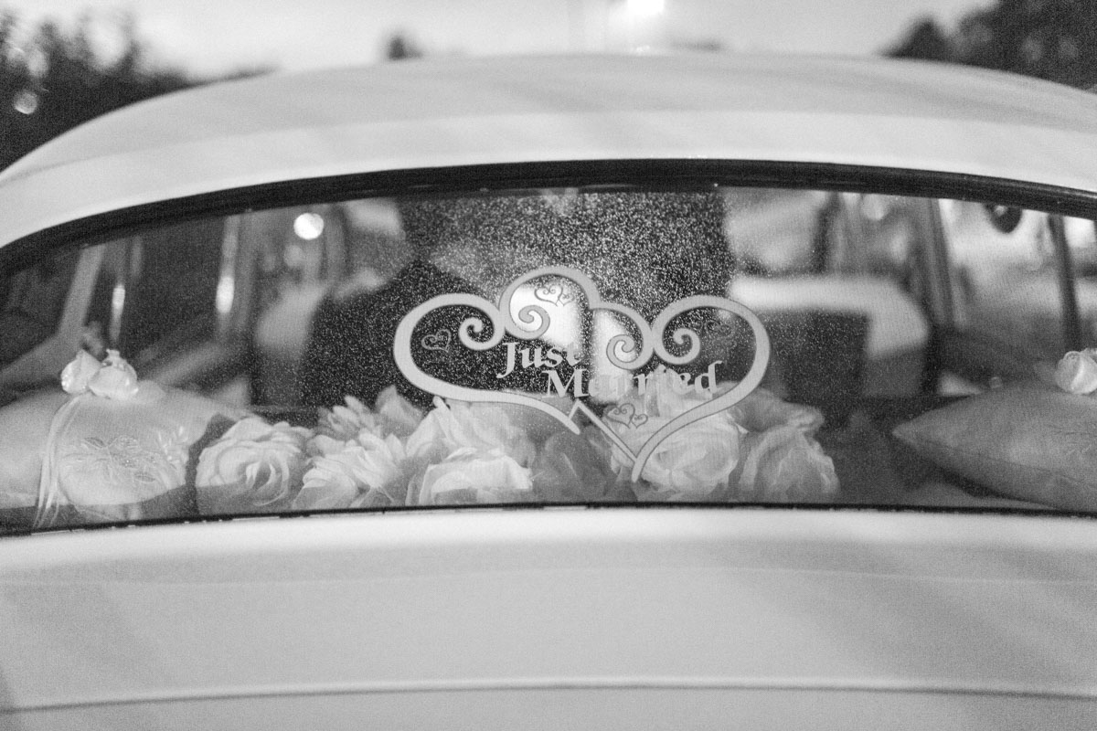 Vintage Getaway Car Just Married Signage Summerour Studio Rustic White Photography The Celebration Society