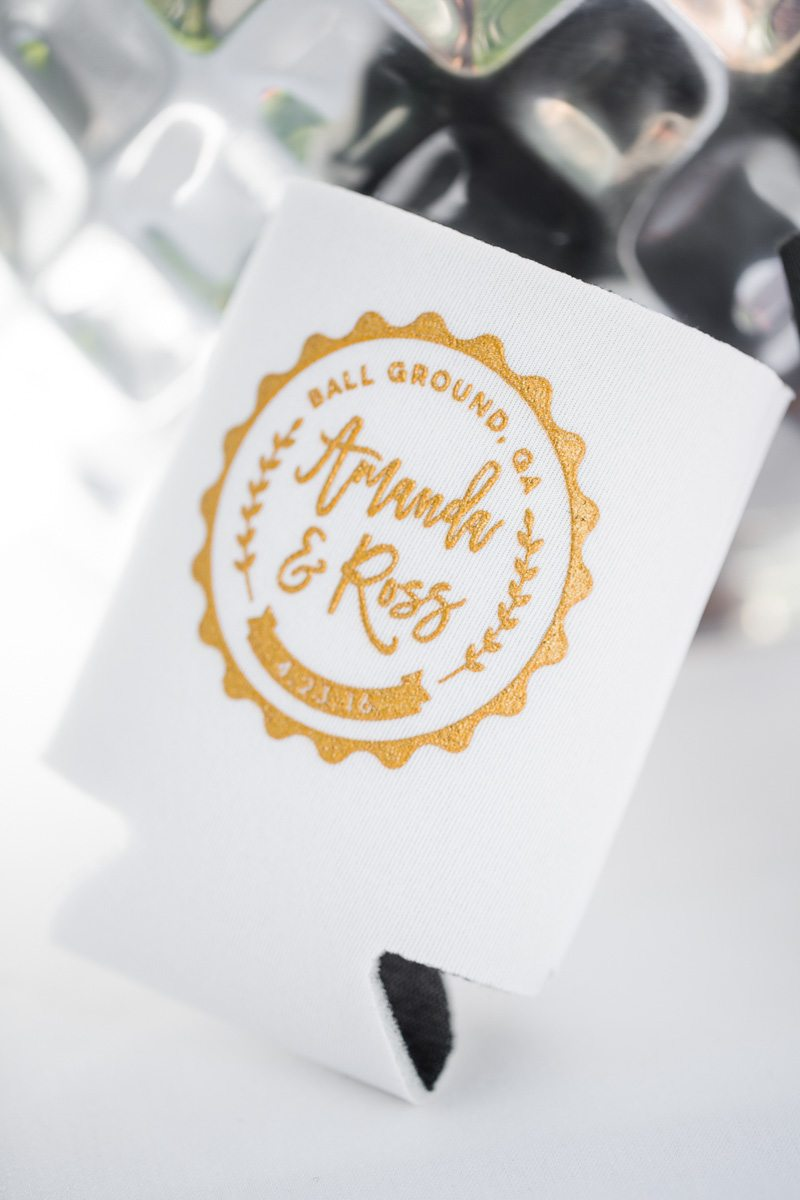 Wax Seal Inspired Custom Koozie Wedding Favors_The Wheeler House ...