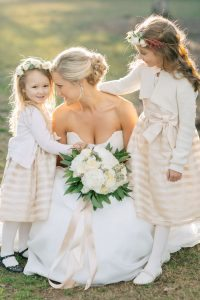 winter-wedding-flower-girls-blush-pink-dresses