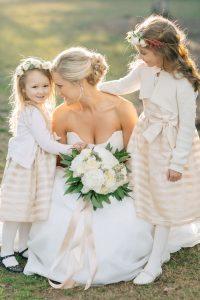 winter-wedding-flower-girls-blush-pink-dresses