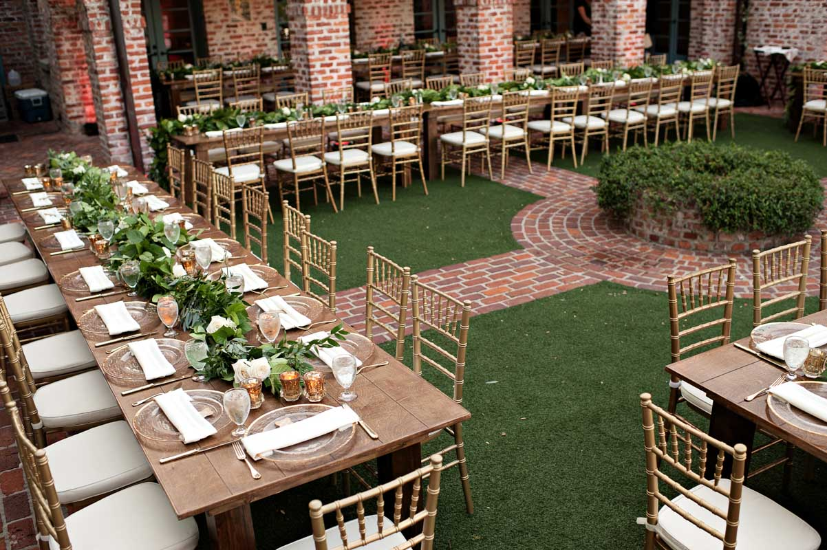 Casa Feliz Outdoor Wedding Reception Table Setup Kristen Weaver  Photography23